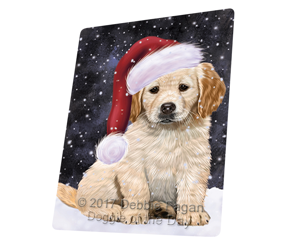 Let it Snow Christmas golden Retrievers Dog Woven Throw Sherpa Blanket T88